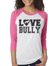 Love Bully Women's Bully Baseball Tee  Sizes XS-3X
