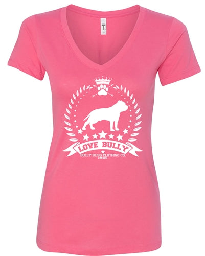 Love Bully Wreath Fitted V Neck