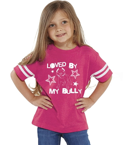 Loved BY MY BULLY Toddler Tee pink or blue