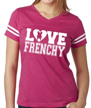 Love Frenchy Women's Football Jersey French Bulldog Shirt