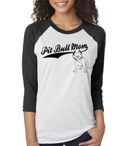 Pit Bull Mom Unisex Fit Baseball Shirt