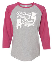 Pitbull Mama Womens Raglan Baseball Shirt