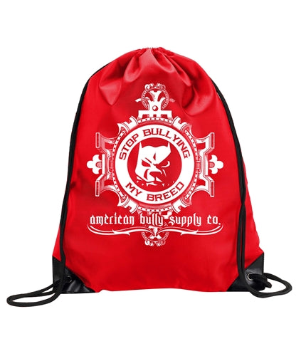 Stop Bullying My Breed Logo Cinch Backpack