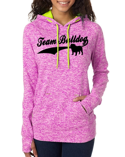 Team Bulldog Women's Contrast Pullover with Hood