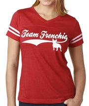 Team Frenchie Women's Football Jersey French Bulldog Shirt