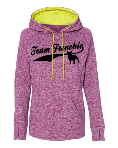 Team Frenchie Women's Contrast Pullover with Hood