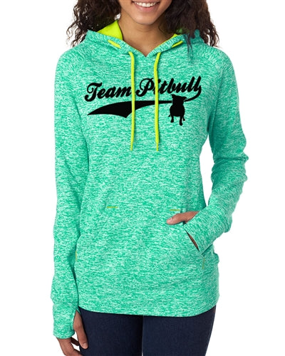 Team Pitbull Women's Contrast Pullover with Hood