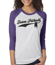 Team Pitbull Women's Bully Baseball Tee  Sizes XS-3X Unisex Sizing