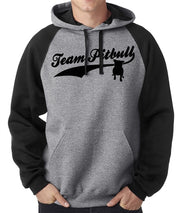 Team Pitbull Men's Raglan Sleeve Pullover with Hood