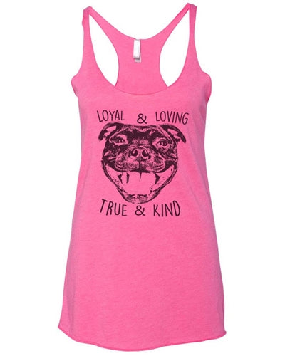 True and Kind Women's Tri Blend Tank Top
