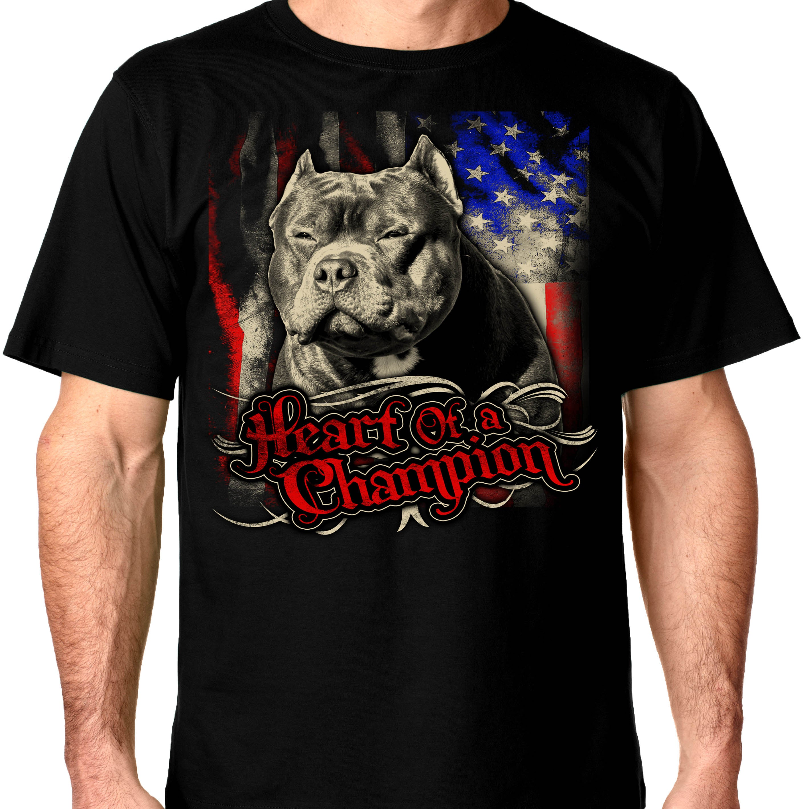 American Bully Supply Co  Heart of a champion Crew Neck Shirt