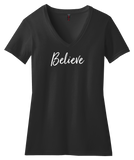 Believe v-neck t-shirt
