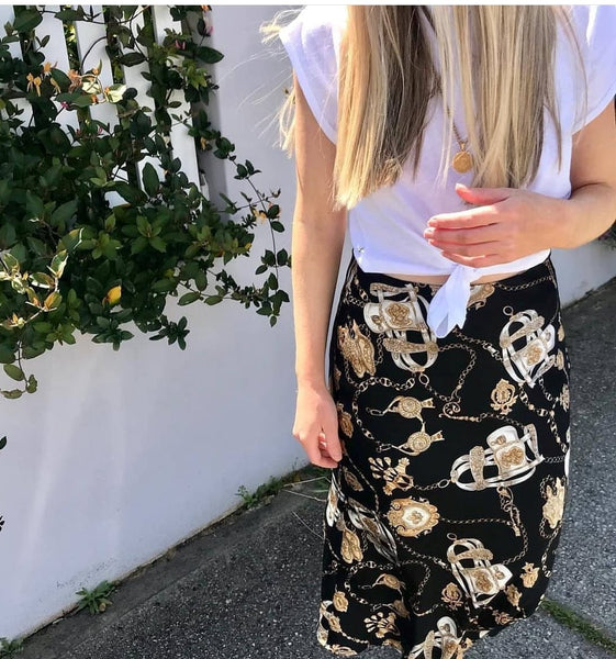 Lock And Key Midi Skirt