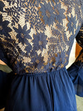 Lace Playsuit / Navy