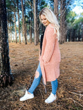 Layla Cardigan in salmon pink