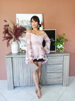 Lace Hilo Top / musk