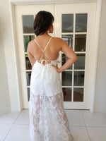 White Floral Lace Maxi Playsuit