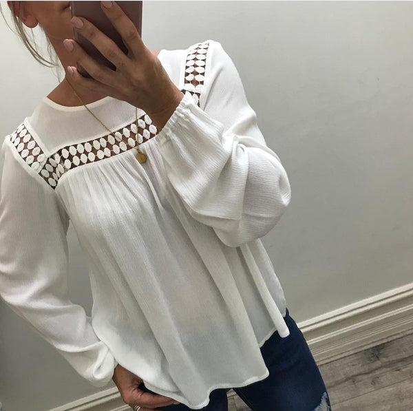 Pearl Top / White