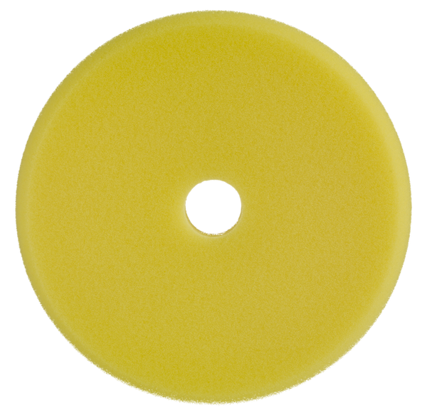 "SONAX Polishing sponge yellow 143mm (5.6"") Dual Action Finish Pad - CARZILLA"