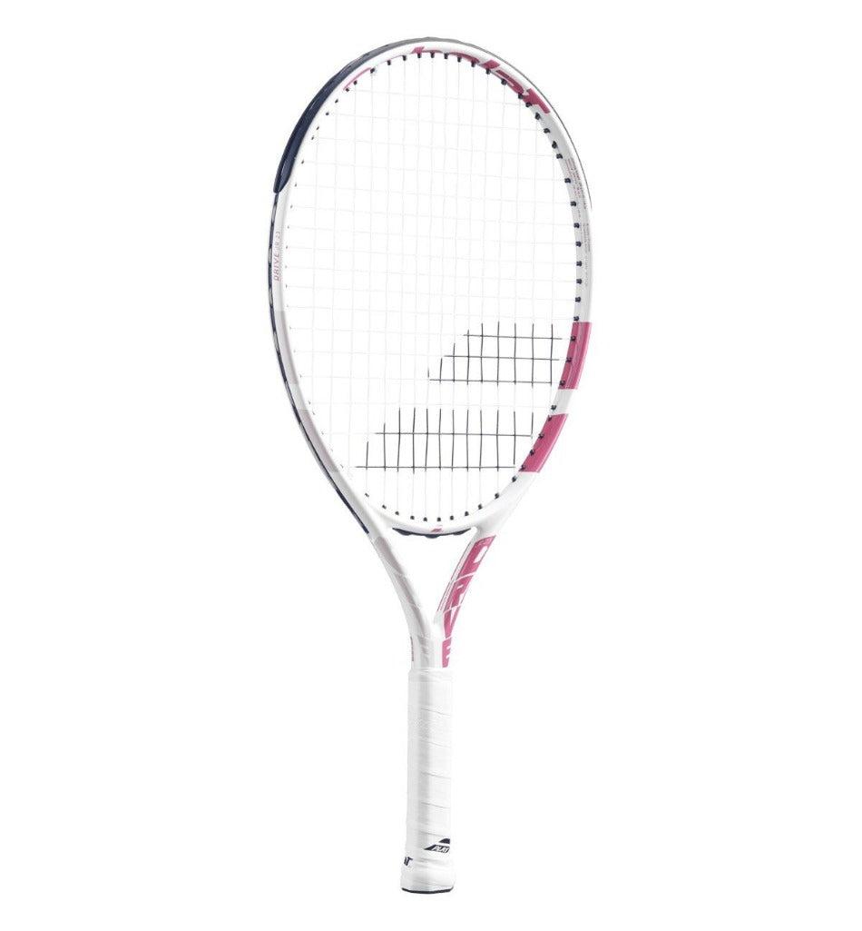 Babolat Drive 23 Inch Junior Tennis Racket - White/Pink (2021)-All Things Tennis-UK tennis shop