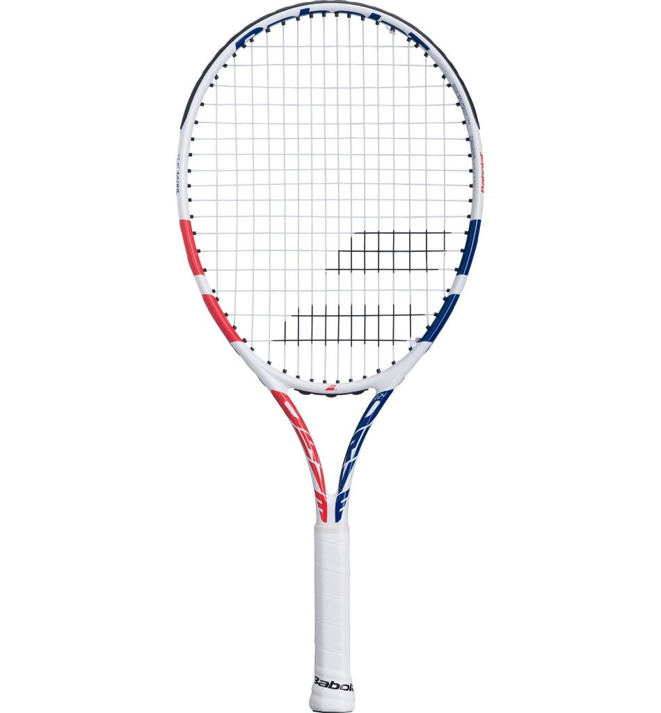 Babolat Drive 24 Inch Junior Tennis Racket - White/Coral (2021)-All Things Tennis-UK tennis shop