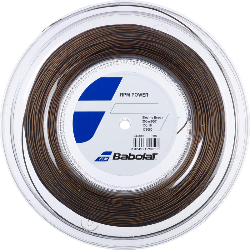 Babolat RPM Power 200m Tennis String Reel - Electric Brown - All Things Tennis