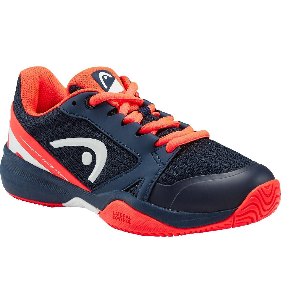 Head Junior Sprint 2.5 Tennis Shoes - Dark Blue/Neon Red - All Things Tennis