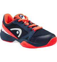 Head Junior Sprint 2.5 Tennis Shoes - Dark Blue/Neon Red - Independent tennis shop All Tbings Tennis