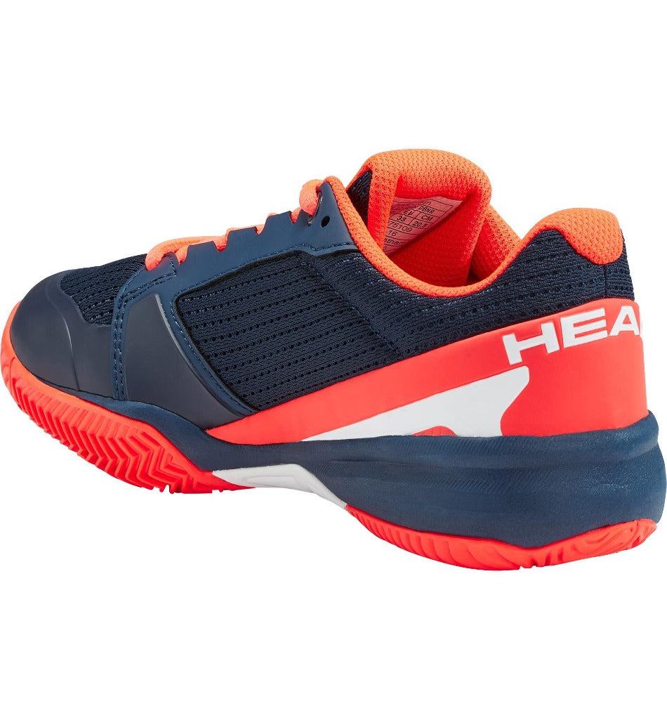 Head Junior Sprint 2.5 Tennis Shoes - Dark Blue/Neon Red-All Things Tennis-UK tennis shop