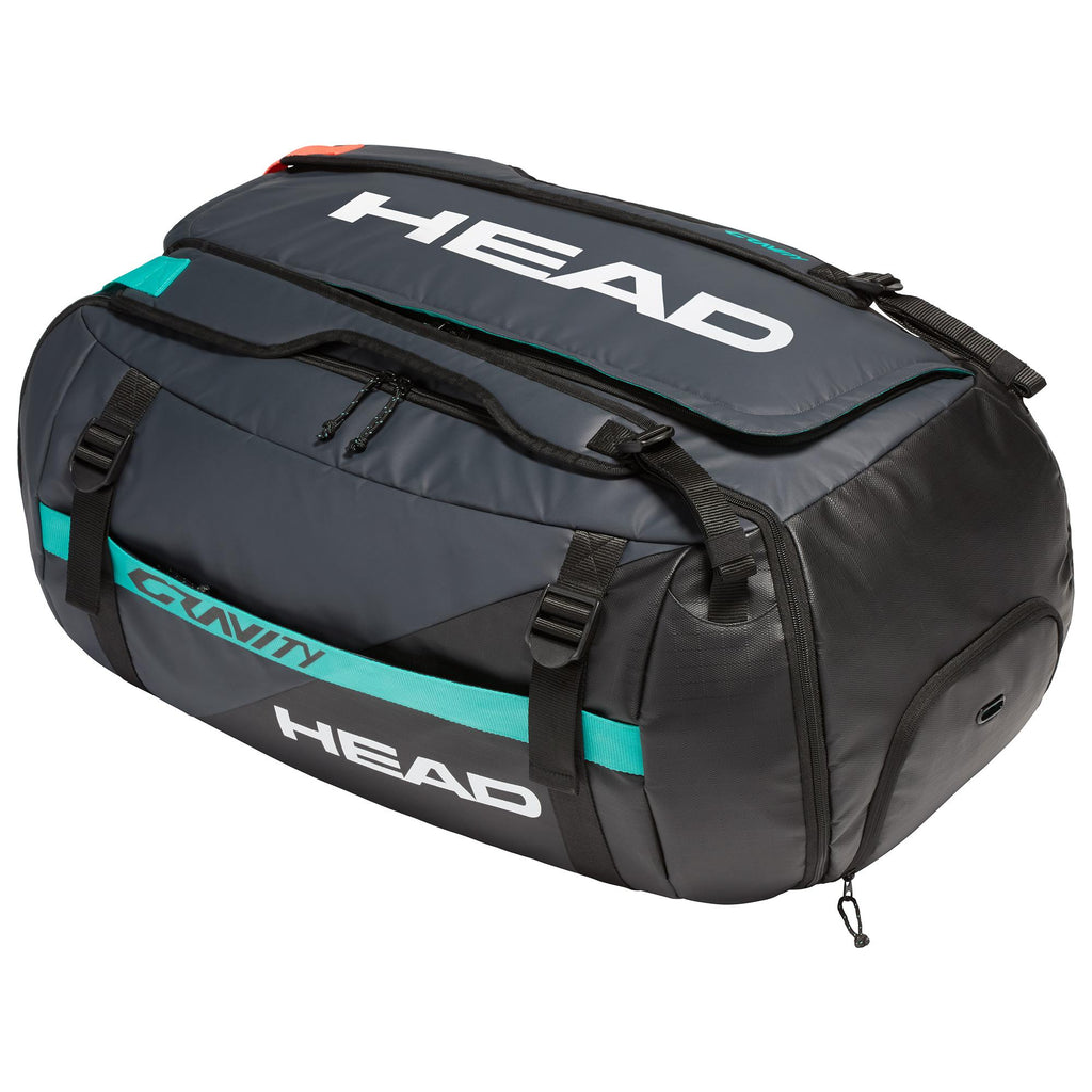 Head Gravity 12 Racket Duffel Bag - Black/Grey - All Things Tennis