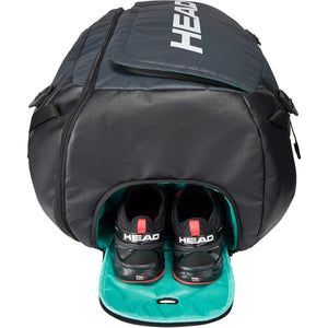 Head Gravity 12 Racket Duffel Bag - Black/Grey-All Things Tennis-UK tennis shop