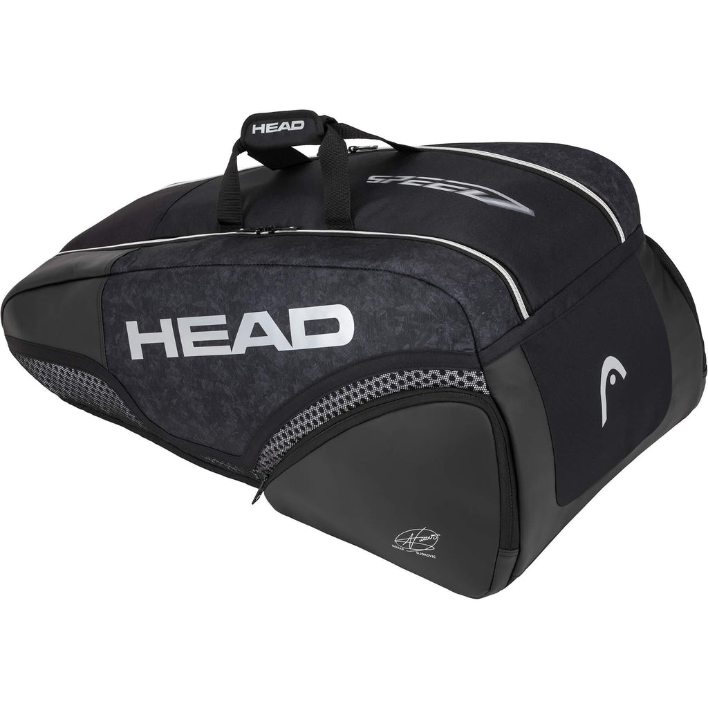 Head Djokovic Supercombi 9 Racket Bag - Black-All Things Tennis-UK tennis shop
