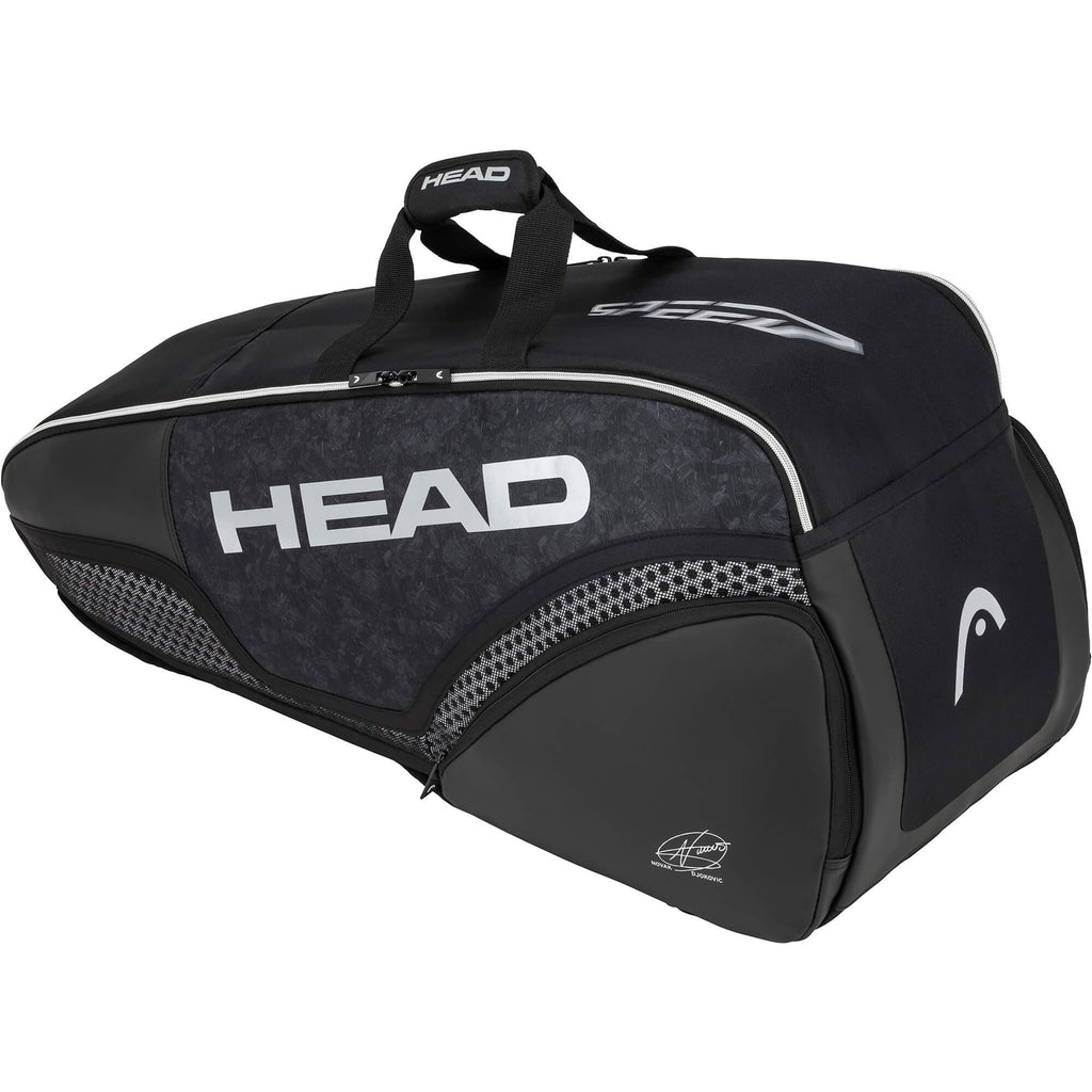 Head Djokovic Combi 6 Racket Bag - Black-All Things Tennis-UK tennis shop