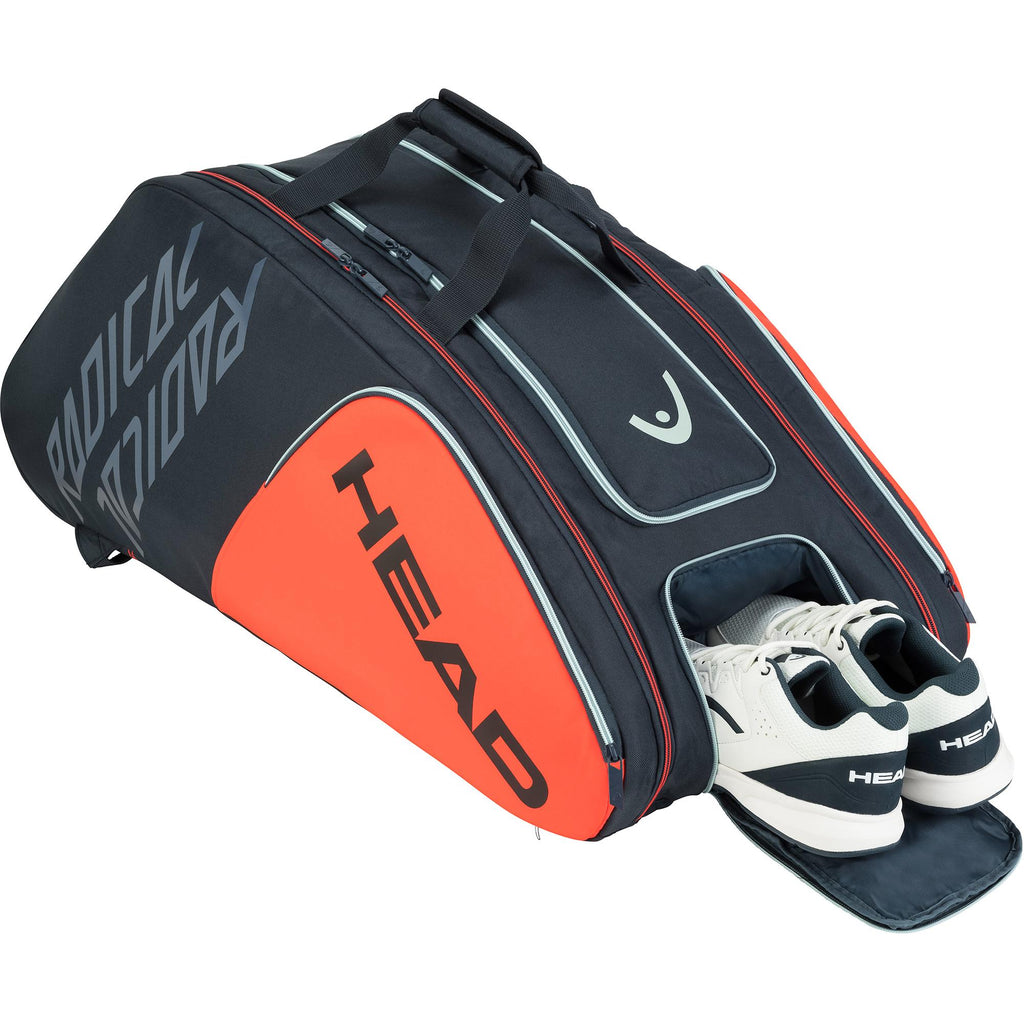 Head Radical Monstercombi 12 Racket Bag - Orange/Grey-All Things Tennis-UK tennis shop