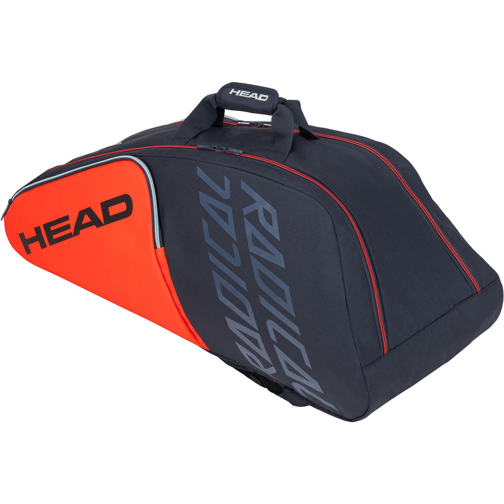 Head Radical Supercombi 9 Racket Bag - Orange/Grey-All Things Tennis-UK tennis shop