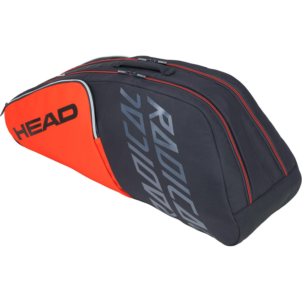 Head Radical Combi 6 Racket Bag - Orange/Grey-All Things Tennis-UK tennis shop