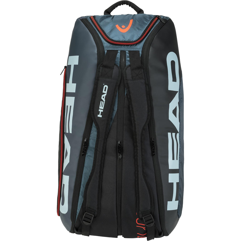 Head Tour Team Monstercombi 12 Racket Bag - Black/Grey-All Things Tennis-UK tennis shop