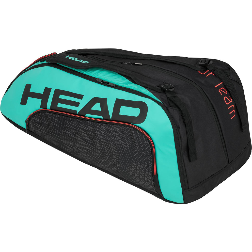 Head Tour Team Monstercombi 12 Racket Bag - Black/Teal/Red - ATT Affiliates only - All Things Tennis