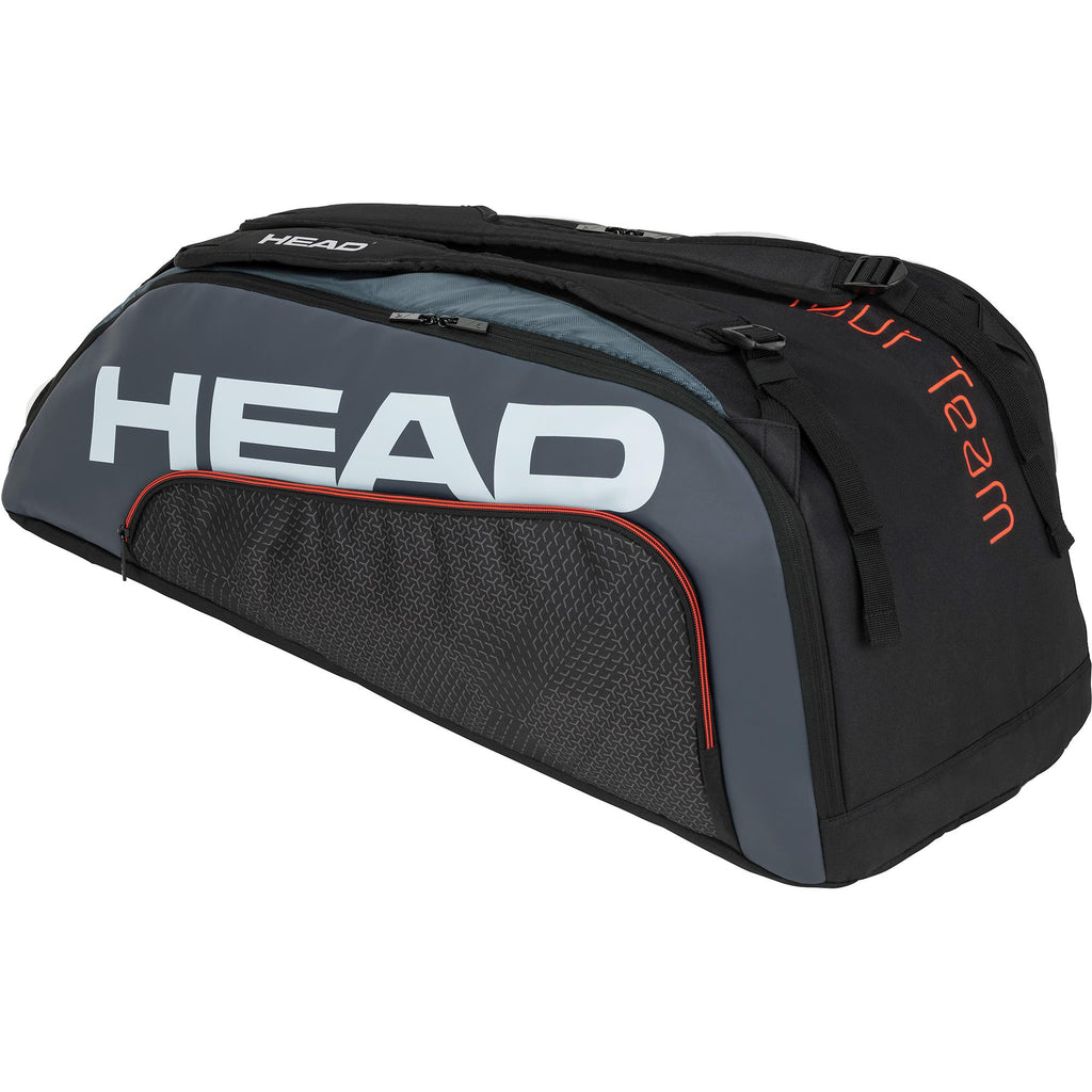 Head Tour Team Supercombi 9 Racket Bag - Black/Grey-All Things Tennis-UK tennis shop