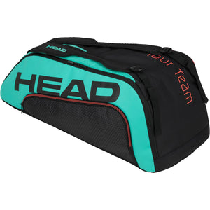 Head Tour Team Supercombi 9 Racket Bag - Black/Teal-All Things Tennis-UK tennis shop
