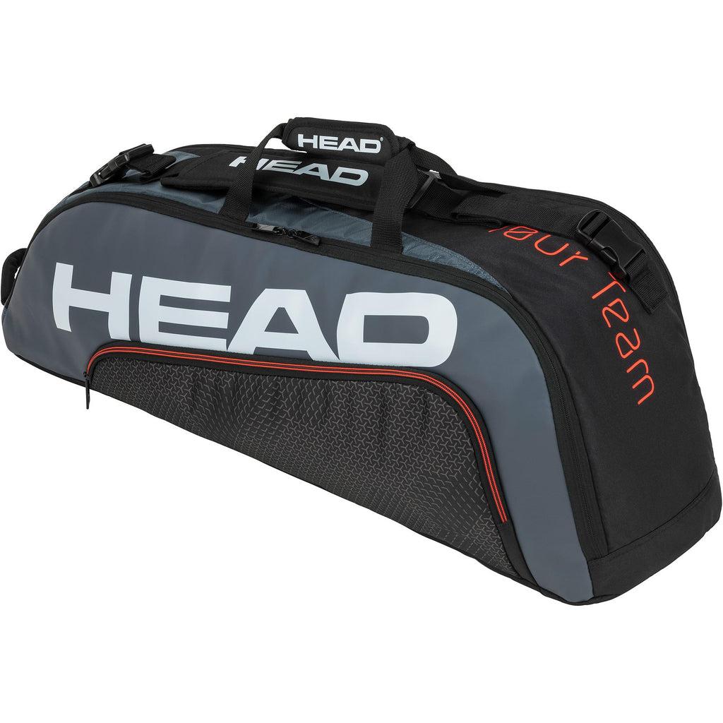 Head Tour Team Combi 6 Racket Bag - Black/Grey-All Things Tennis-UK tennis shop