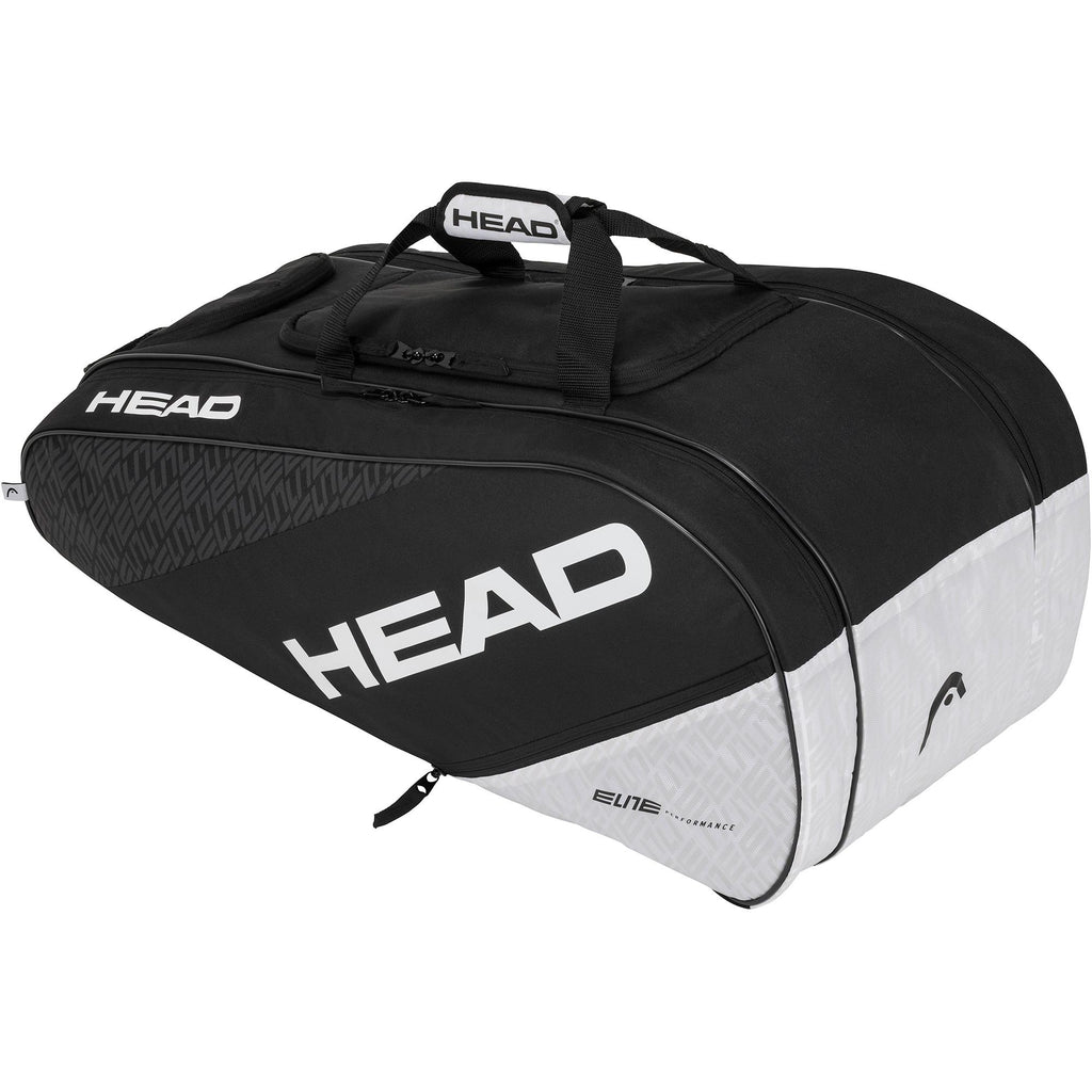 Head Elite All Court Racket Bag - Black/White-All Things Tennis-UK tennis shop