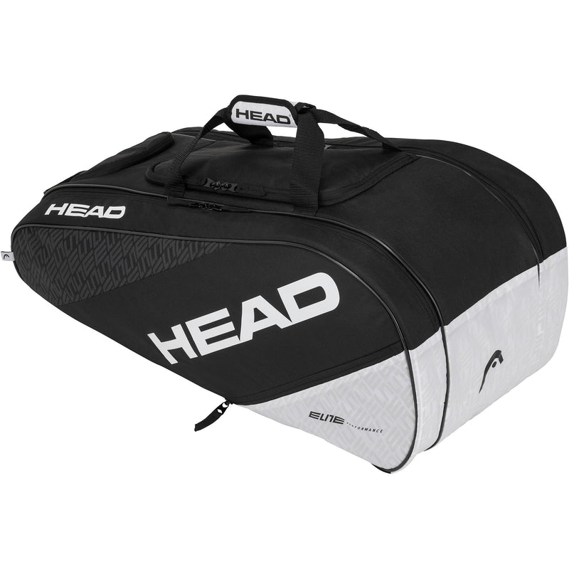 Head Elite All Court Racket Bag - Black/White - All Things Tennis