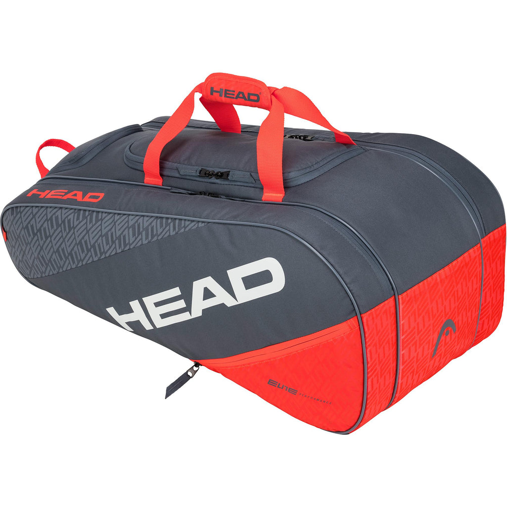 Head Elite All Court Racket Bag - Grey/Orange - Independent tennis shop All Tbings Tennis