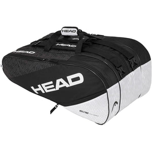Head Elite Monstercombi 12 Racket Bag - Black/White-All Things Tennis-UK tennis shop