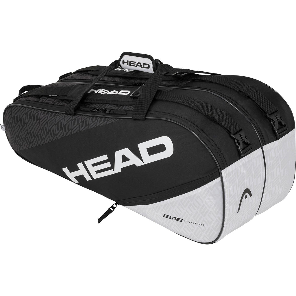Head Elite Supercombi 9 Racket Bag - Black/White-All Things Tennis-UK tennis shop