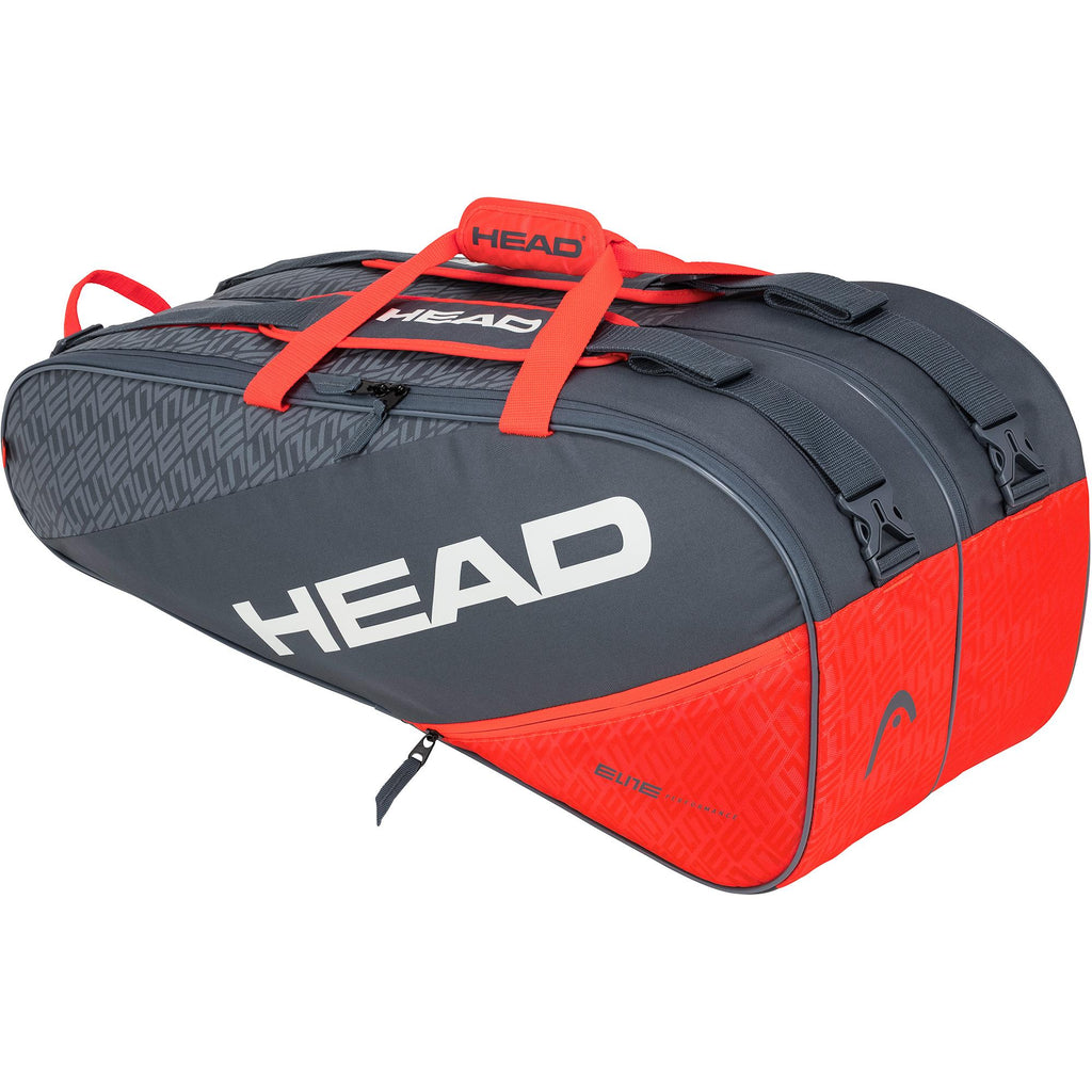 Head Elite Supercombi 9 Racket Bag - Grey/Orange-All Things Tennis-UK tennis shop