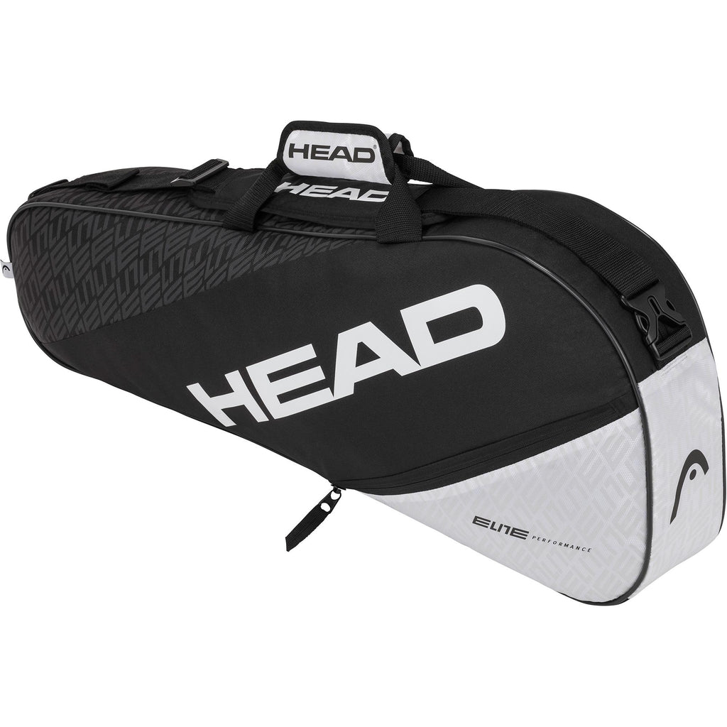 Head Elite Combi Pro 3 Racket Bag - Black/White - All Things Tennis