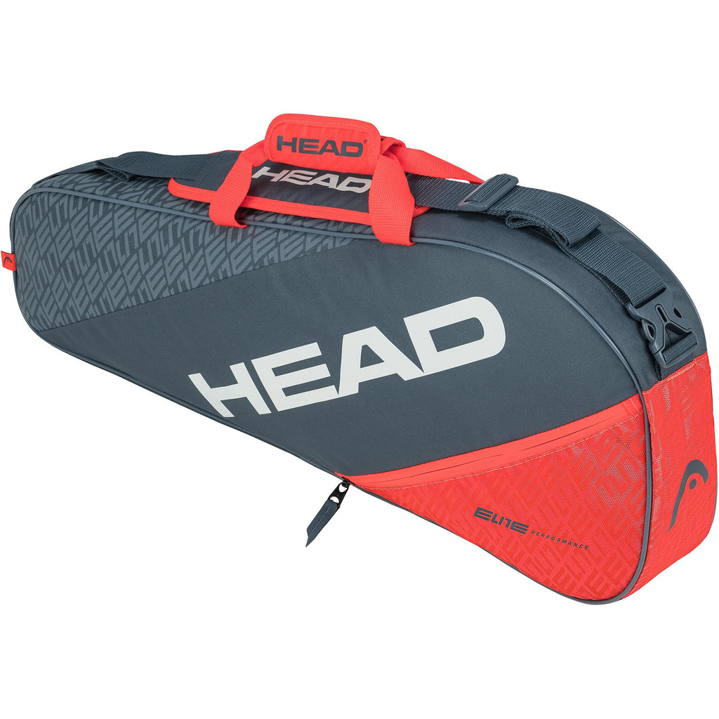 Head Elite Combi Pro 3 Racket Bag - Grey/Orange-All Things Tennis-UK tennis shop