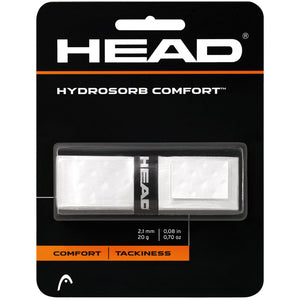 Head Hydrosorb Comfort-White - Independent tennis shop All Tbings Tennis